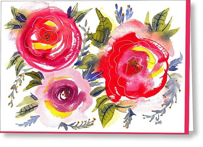 Floral Iv Greeting Card