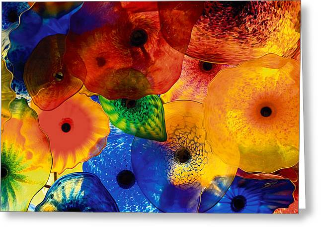 Glass Garden Greeting Cards - Floral Greeting Card by Levin Rodriguez