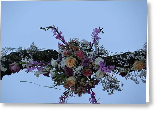 floral love in the Kenyan sky Greeting Card