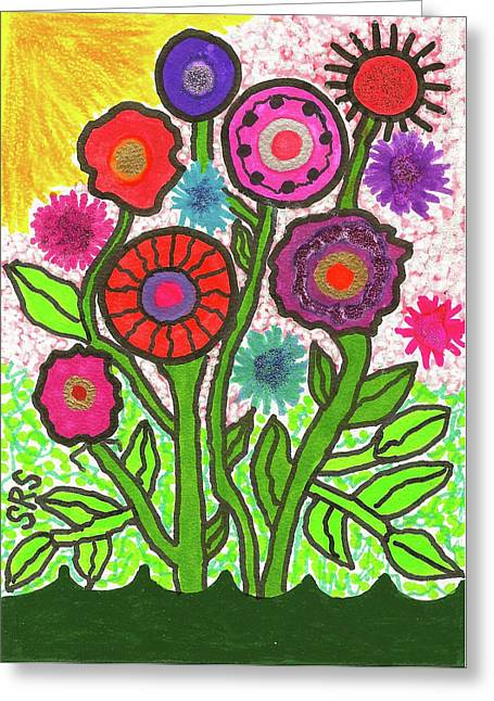 Floral Majesty Greeting Card