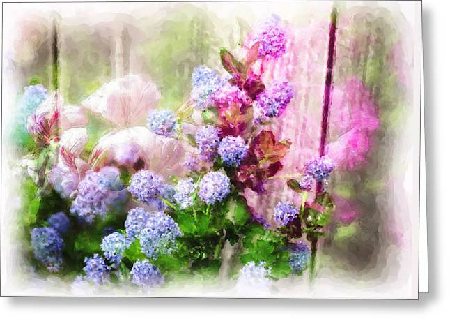 Floral Merge 11 Greeting Card by Artzmakerz