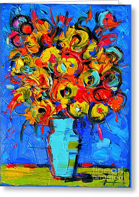 Floral Miniature - Abstract 0215 Greeting Card