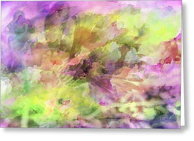 Floral Pastel Abstract Greeting Card