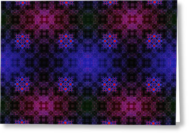 Floral Pattern Greeting Card by Aleksei Titov