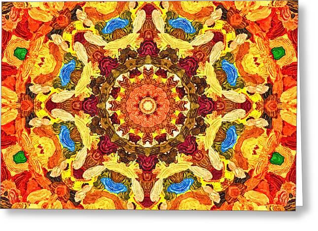 Mandala Of The Sun Greeting Card