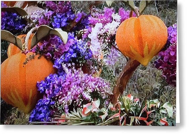 Greeting Card featuring the photograph Floral Peaches by Linda Phelps