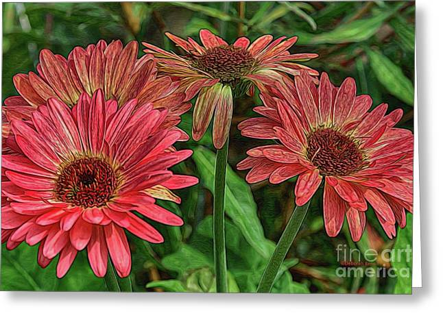 Greeting Card featuring the photograph Floral Pink by Deborah Benoit
