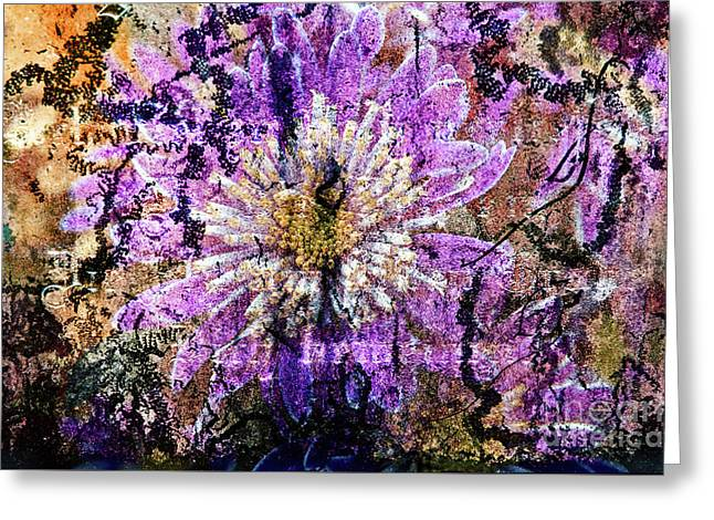 Greeting Card featuring the digital art Floral Poetry Of Time by Silva Wischeropp