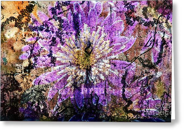 Floral Poetry Of Time Greeting Card