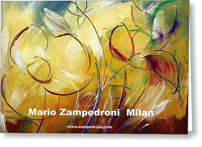 Floral Poster Greeting Card by Mario Zampedroni