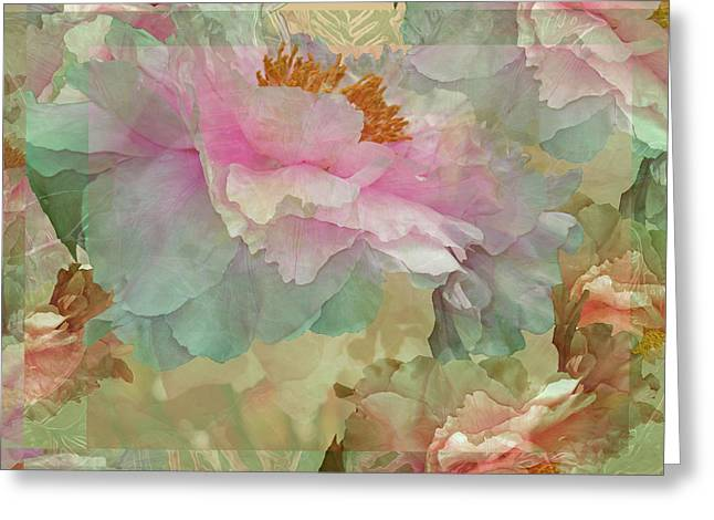 Floral Potpourri With Peonies 16 Greeting Card