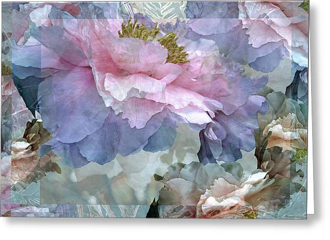 Floral Potpourri With Peonies 24 Greeting Card