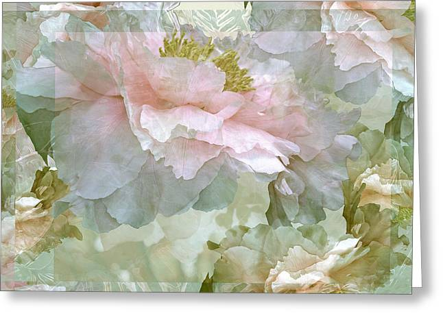 Floral Potpourri With Peonies 25 Greeting Card