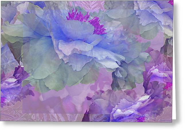 Floral Potpourri With Peonies 4 Greeting Card