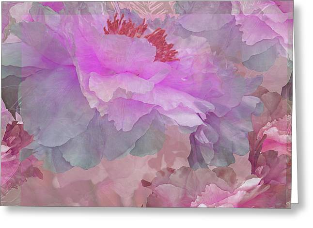 Floral Potpourri With Peonies 6 Greeting Card