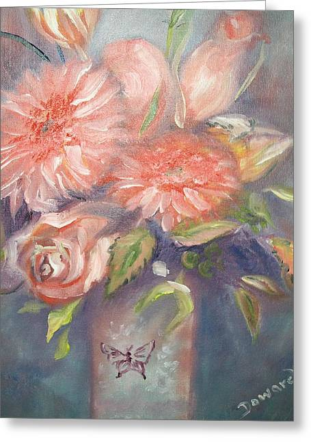 Greeting Card featuring the painting Floral Profile by Raymond Doward