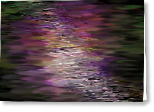 Floral Reflections Greeting Card by Sandra Bauser Digital Art