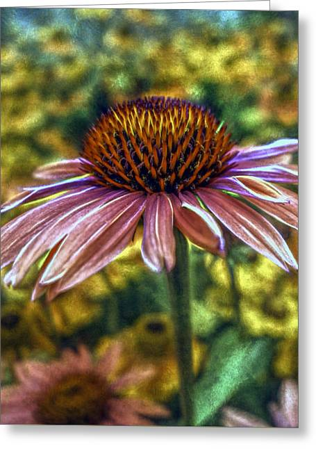 Floral Shimmer Greeting Card