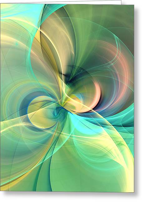 Floral Silk Abstract Greeting Card