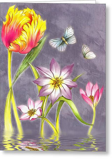 Floral Supreme Greeting Card by Mario Carini