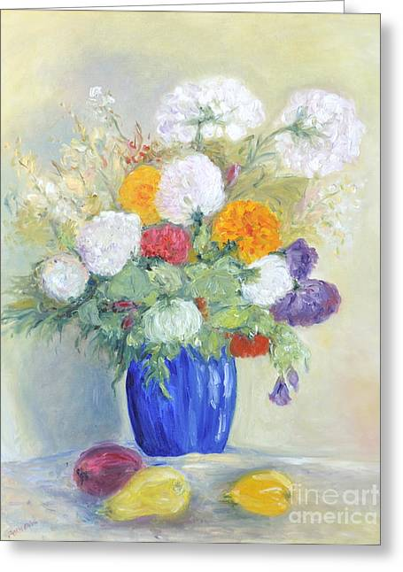 Greeting Card featuring the painting Floral Symphonie by Barbara Anna Knauf