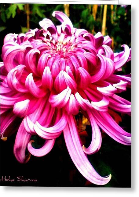 Floral Tentacles Greeting Card by Pratibha Sharma