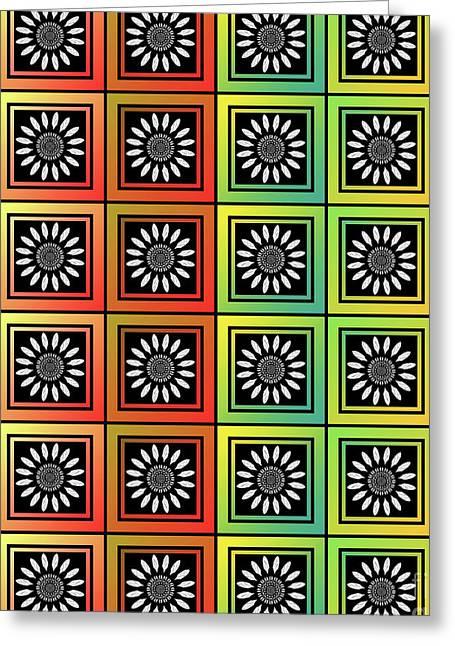Floral Tessellation Greeting Card by Gaspar Avila