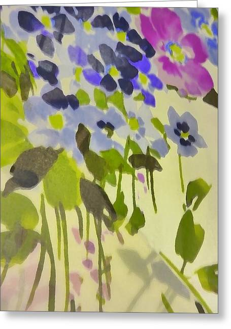 Floral Vines Greeting Card by Florene Welebny