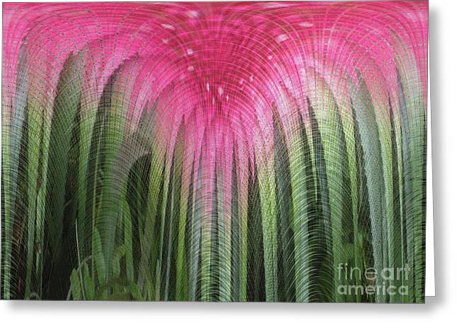 Floral Waterfall Greeting Card by Ann Johndro-Collins