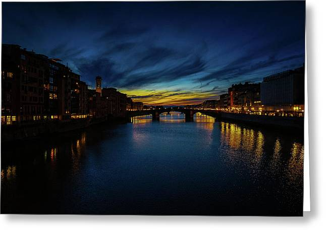 Florence At Sunset Greeting Card