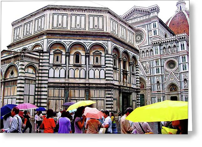 Florence Baptistery Greeting Card by Debbie Oppermann
