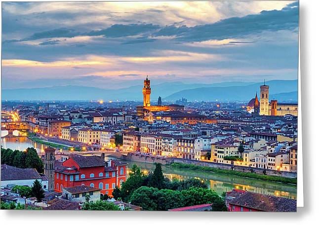 Greeting Card featuring the photograph Florence by Fabrizio Troiani