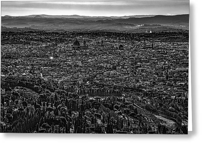 Florence From Fiesole Greeting Card by Sonny Marcyan