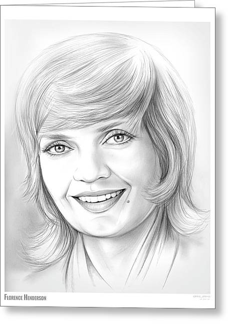 Florence Henderson Greeting Card