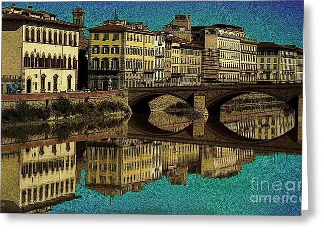 Florence Greeting Card by Jeff Breiman