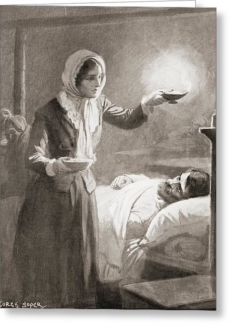 Florence Nightingale, 1820 Greeting Card by Vintage Design Pics