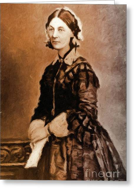 Florence Nightingale By Mary Bassett Greeting Card