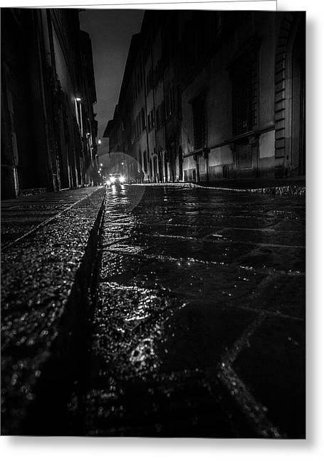 Florence Nights Greeting Card by Sonny Marcyan