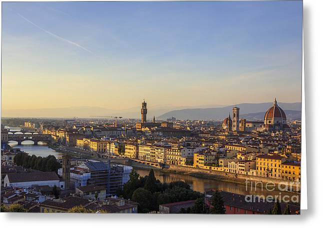 Florence Greeting Card by Spencer Baugh