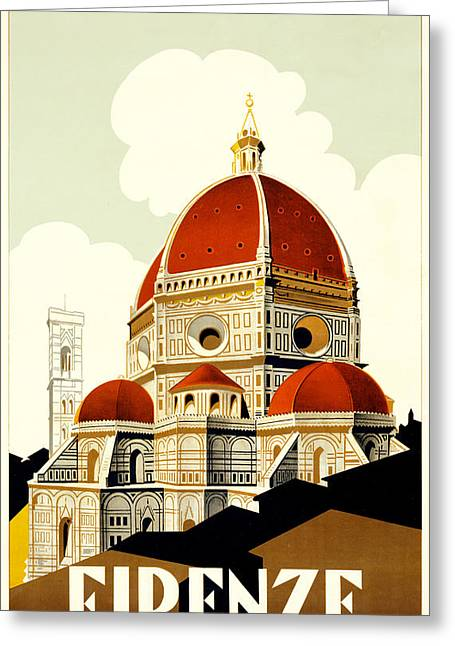 Florence Travel Poster Greeting Card by Italian School