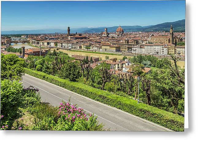 Florence View From Piazzale Michelangelo Greeting Card by Melanie Viola