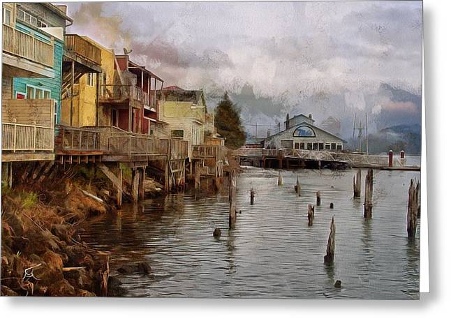 Scene On The Siuslaw  Greeting Card