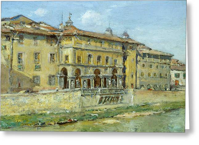 Florence Greeting Card by William Merritt Chase