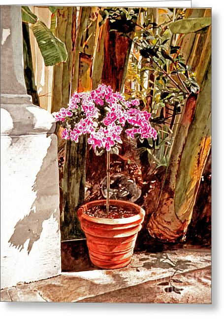 Floret Nouveau Greeting Card by David Lloyd Glover
