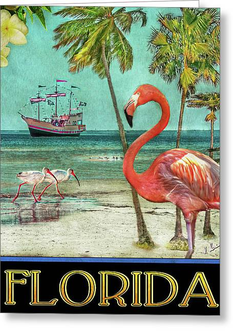 Greeting Card featuring the photograph Florida Advertisement by Hanny Heim