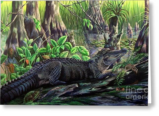 Florida Alligator- Beast Amongst The Beauty Greeting Card