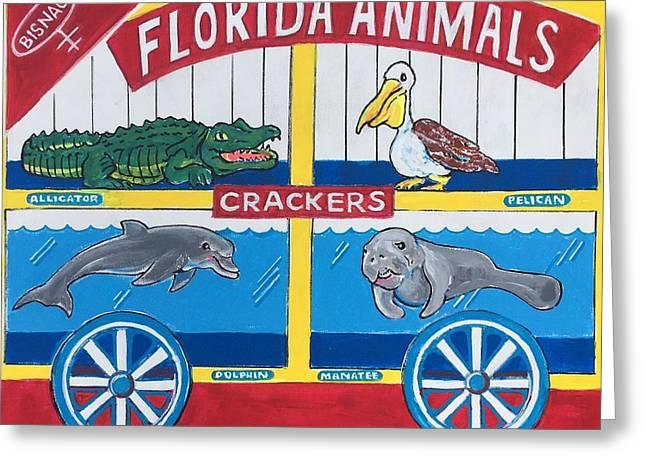 Florida Animal Crackers Greeting Card