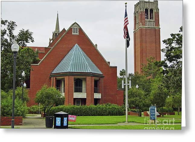 Florida Auditorium And Century Tower Greeting Card