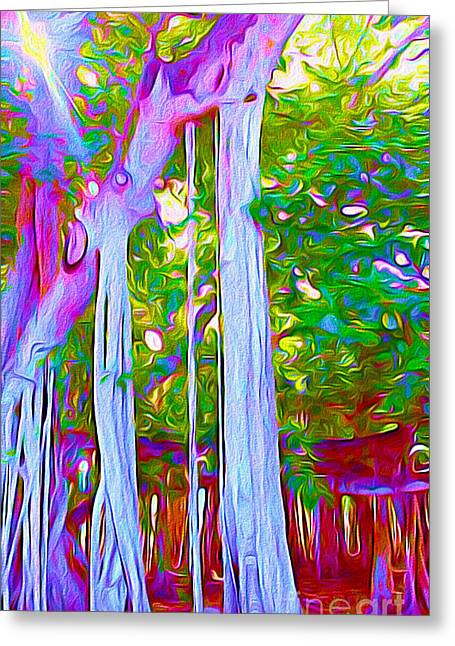 Florida Banyan Tree I Greeting Card by Chris Andruskiewicz