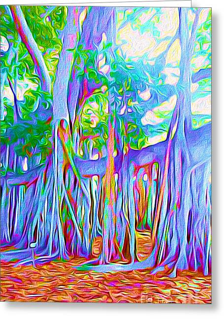 Florida Banyan Tree II Greeting Card by Chris Andruskiewicz